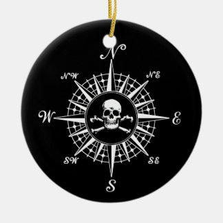 Compass Skull Ornaments