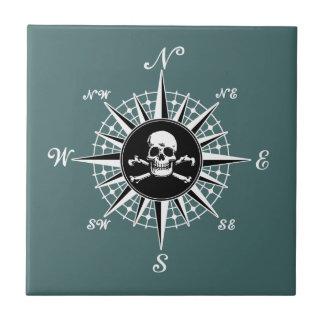 Compass Skull Tile