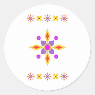 Compass Star Classic Round Sticker