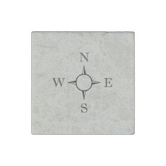 Compass Tan Stone Magnet