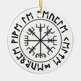 Compass Viking Ceramic Ornament