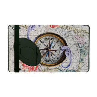 compass vintage map iPad cover