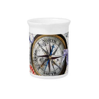 Compass Vintage Nautical Drink Pitchers