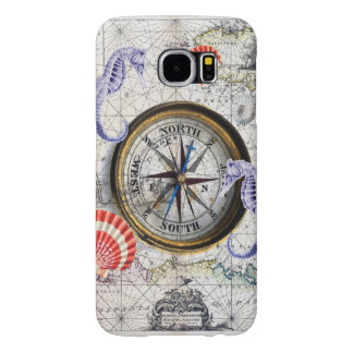 Compass Vintage Nautical Samsung Galaxy S6 Case