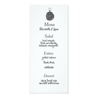 Compass Wedding Menu Card