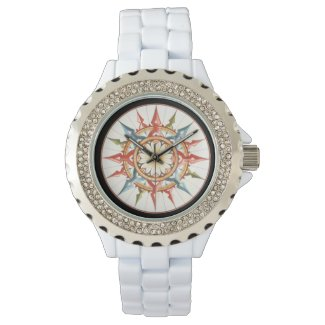 compass/wind rose wristwatches