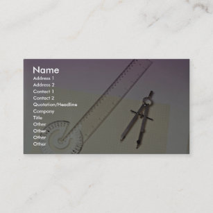 Ruler business cards templates zazzle compass with ruler business card colourmoves