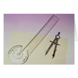 Compass with ruler card