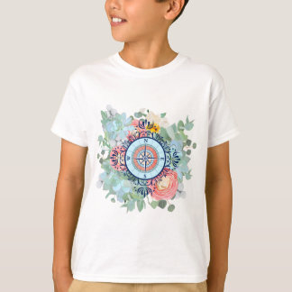 Compass with Succulents T-Shirt