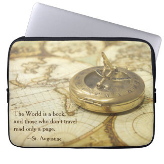 Compass World Travel Map Laptop Sleeve