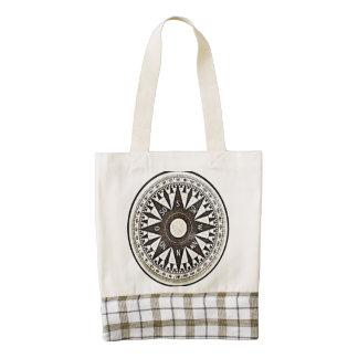 Compass Zazzle HEART Tote Bag