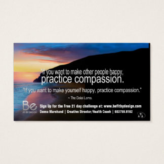 Compassion - 21 Day Perspective Challenge Business Card