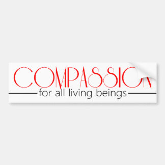 Compassion Bumper Stick Bumper Sticker