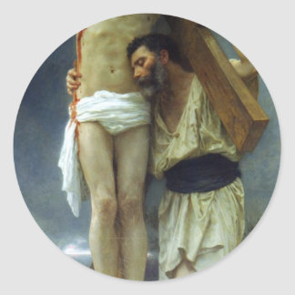 Compassion by William-Adolphe Bouguereau Classic Round Sticker