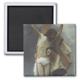 Compassion by William Bouguereau 2 Inch Square Magnet