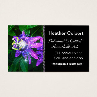 Compassion Fower Caregiver  Professional Business Card