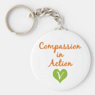 Compassion in Action Key Chain