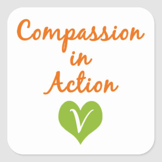 Compassion in Action Square Sticker