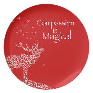 Compassion is Magical Plate