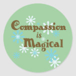 Compassion is Magical stickers