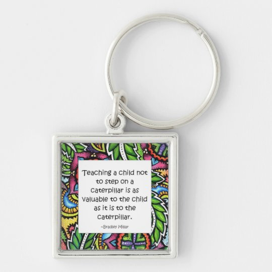 Compassion is taught keychain