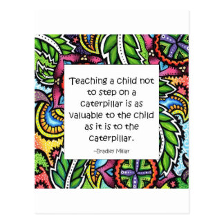 Compassion is taught postcard