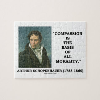 Compassion Is The Basis Of Morality Schopenhauer Jigsaw Puzzle