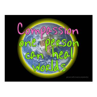 Compassion One Person (Dark) Postcard