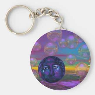 Compassion – Violet and Gold Awareness Basic Round Button Keychain