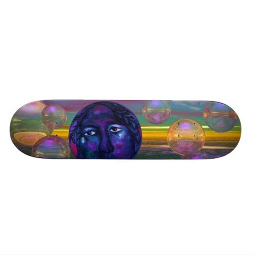 Compassion – Violet and Gold Awareness Skateboard Decks