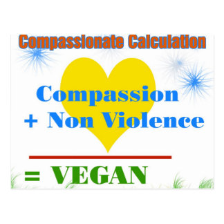 Compassionate Calculation Postcard