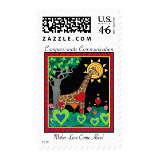 Compassionate Communication Makes Love postage
