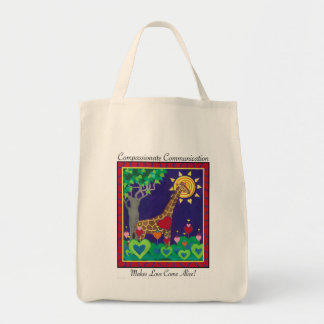 Compassionate Communication Makes Love... tote Grocery Tote Bag