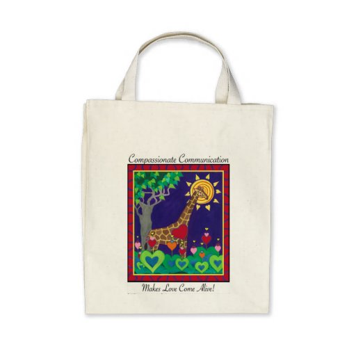 Compassionate Communication Makes Love... tote Canvas Bags