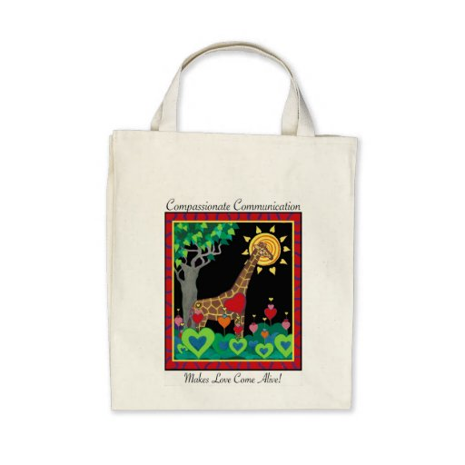 Compassionate Communication (Night) Tote Tote Bags