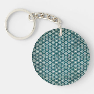 Compassionate Healthy Motivating Heavenly Double-Sided Round Acrylic Keychain