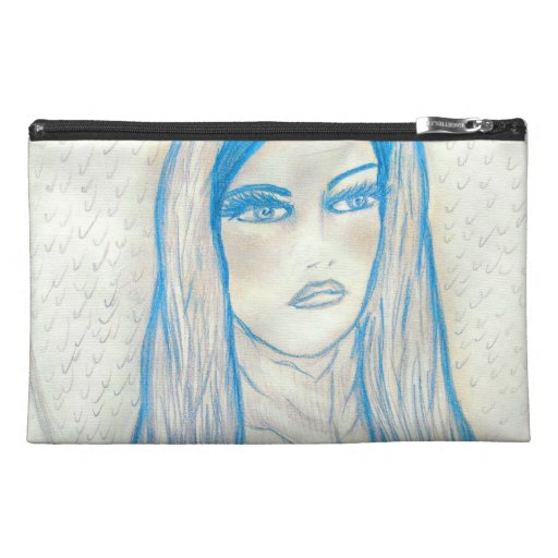 Compassionate Mary in Blues Travel Accessory Bags