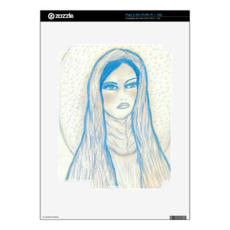 Compassionate Mary in Blues Decals For iPad 2