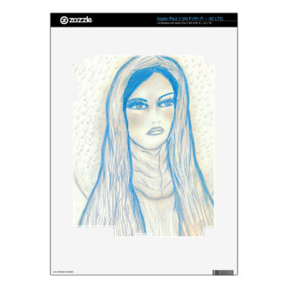 Compassionate Mary in Blues Decals For iPad 3