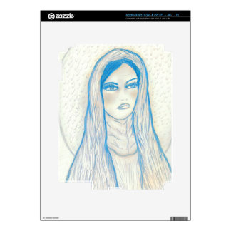 Compassionate Mary in Blues iPad 3 Skin