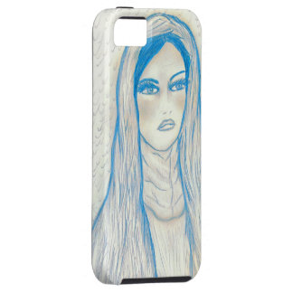 Compassionate Mary - In Blues iPhone SE/5/5s Case