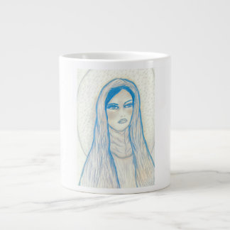 Compassionate Mary In Blues Large Coffee Mug