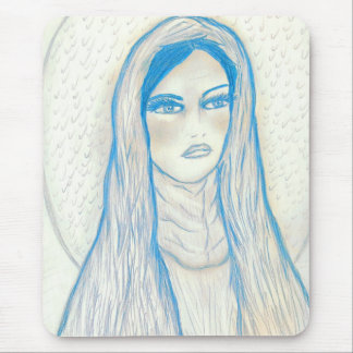 Compassionate Mary in Blues Mouse Pad