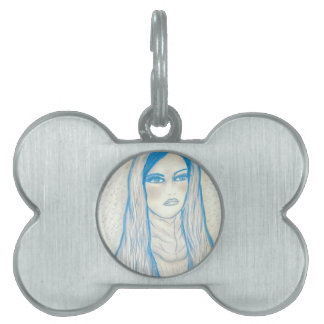 Compassionate Mary in Blues Pet Name Tag