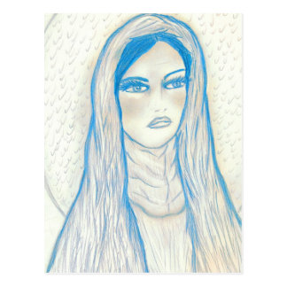 Compassionate Mary in Blues Postcard