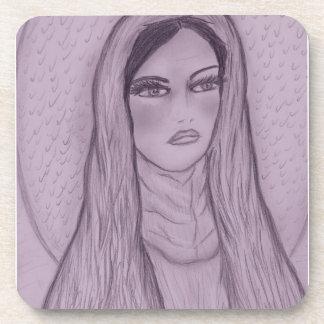 Compassionate Mary in Purple Beverage Coaster