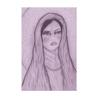 Compassionate Mary in Purple Canvas Print