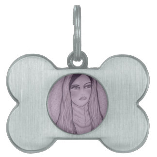 Compassionate Mary in Purple Pet Tag