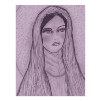 Compassionate Mary in Purple Postcard