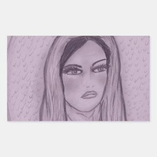 Compassionate Mary in Purple Rectangular Sticker